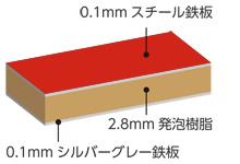 カラー板断面図