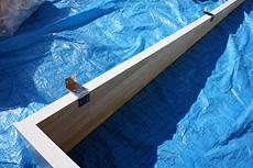 曲面黒板施工例3