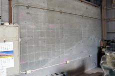 曲面黒板施工例4