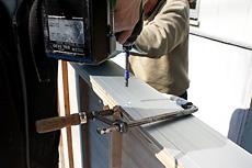曲面黒板施工例7