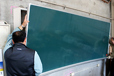 曲面黒板施工例10