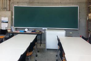 曲面黒板施工例14