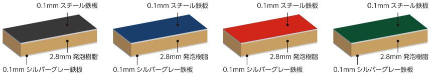 カラーボード/カラー黒板 断面図