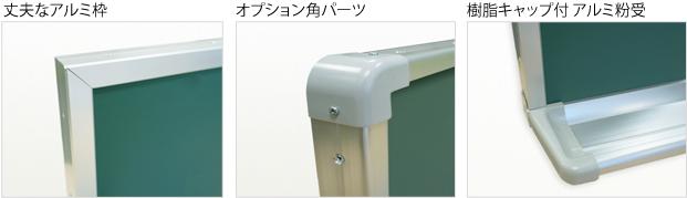 曲面黒板/ホワイトボード パーツ詳細画像